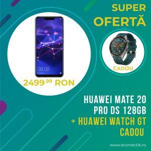 Huawei Mate 20Pro DS 128GB Black Grad B+Ceas Huawei Watch GT Gri CADOU