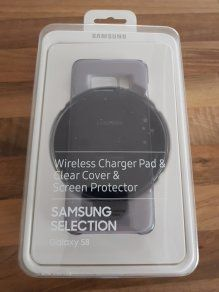 Wireles chargerPad&clear cover&ScreenProtector Samsung S8Grad B