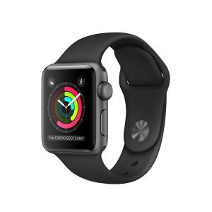 Apple Watch Series 2 38mm Space Gray Aluminium Case + Black Sport Band